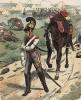 Раненый саксонский кирасир в униформе образца 1813 г. Uniformenkunde Рихарда Кнотеля, часть 2, л.49. Ратенау (Германия), 1891