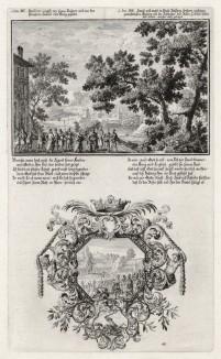 1. Самуил выбирает одного из сыновей Ессея 2. Давид принимает вызов Голиафа (из Biblisches Engel- und Kunstwerk -- шедевра германского барокко. Гравировал неподражаемый Иоганн Ульрих Краусс в Аугсбурге в 1700 году)