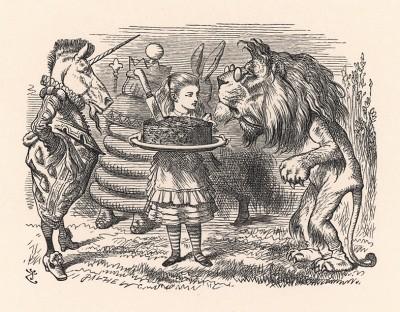 """""""Ты кто? -- спросил он, зевая после каждого слова. -- Животное?.. Растение?.. Минерал?..."""" (иллюстрация Джона Тенниела к книге Льюиса Кэрролла «Алиса в Зазеркалье», выпущенной в Лондоне в 1870 году)"""