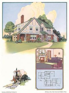 Уютный американский загородный домик.