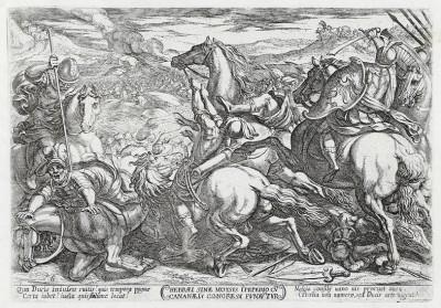 Поражение израильтян (из работы Testamento vecchio (лат.), изданной в Риме в 1660 году)