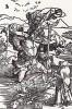 Альбрехт Дюрер. Святой Христофор и летящие птицы