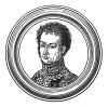 """Пьер Жак Этьен Камбронн (1770—1842) — сын торговца, бригадный генерал, барон (1810), граф Империи (1815) и автор знаменитой фразы """"Гвардия умирает, но не сдается"""", сказанной им при Ватерлоо. Илл. к пьесе С.Гитри """"Наполеон"""", Париж, 1955"""