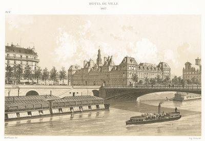 Вид на парижский Отель-де-Виль в 1867 году. Paris à travers les âges..., Париж, 1885.