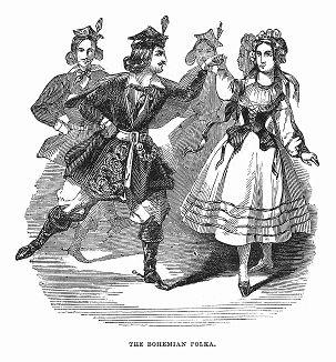 Полька -- быстрый, живой среднеевропейский танец, а также жанр танцевальной музыки, зародившийся в Богемии в середине XIX века (The Illustrated London News №99 от 23/03/1844 г.)