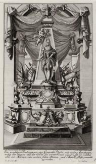 Эскиз для надгробия полководца. Johann Jacob Schueblers Beylag zur Ersten Ausgab seines vorhabenden Wercks. Нюрнберг, 1730