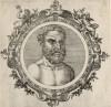 Фалес Милетский (640/624--548/545 гг. до н.э.) (лист 8 иллюстраций к известной работе Medicorum philosophorumque icones ex bibliotheca Johannis Sambuci, изданной в Антверпене в 1603 году)