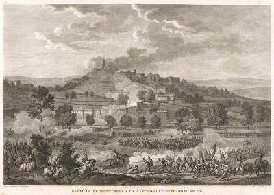 Сражение при Монтебелло 9 июня 1800 г. Tableaux historiques des campagnes d'Italie depuis l'аn IV jusqu'á la bataille de Marengo. Париж, 1807