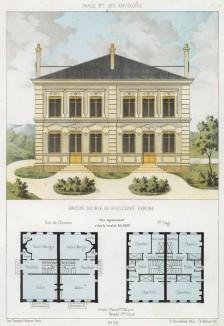 Двойной дом на бульваре Перейр в Париже (из популярного у парижских архитекторов 1880-х Nouvelles maisons de campagne...)