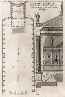 План храма Минервы на Форуме Нервы в Риме.