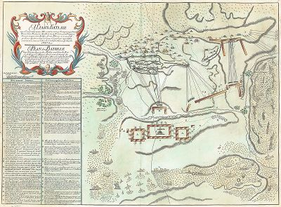 План баталии при Ставучанах в Молдавии между императорскою Российскою главною армиею под командою генерала фелдмаршала фон-Миниха и между Турецкою армиею...17/28 августа 1739 году.
