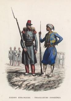 Солдат Французского иностранного легиона и стрелок индийских частей французского экспедиционного корпуса в Северной Африке
