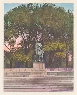 """Памятник Аврааму Линкольну (""""Стоящий Линкольн"""") в Линкольн-парке, Чикаго. Эта скульптура, выполненная Огастесом Сент-Годенсом в 1887 году, признана лучшей портретной статуей Америки."""