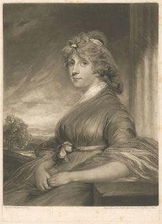 Элизабет Маргарет Гибберт, супруга выдающегося британского политика и бизнесмена Джорджа Гибберта. Меццо-тинто Джеймса  Уорда с оригинала Джона Хоппнера, придворного портретиста принца Уэльского.
