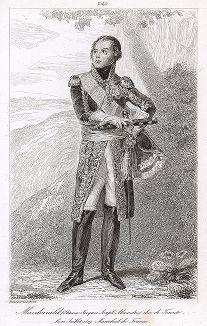 Этьен Жак Жозеф Александр Макдональд (1765-1840), маршал Франции с 1809 года. Galerie des Marechaux de France par Ch. Gavard, Париж, 1839 год.