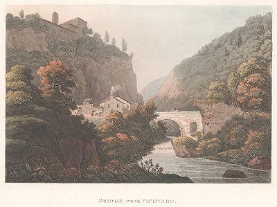 Мост неподалеку от Виковаро к востоку от Рима, Италия.