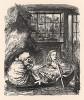 Не успели они отплыть немного, как одно весло завязло в воде и ни за что не желало вылезать (иллюстрация Джона Тенниела к книге Льюиса Кэрролла «Алиса в Зазеркалье», выпущенной в Лондоне в 1870 году)