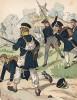 Униформа пехоты прусского ландвера образца 1813 г. Uniformenkunde Рихарда Кнотеля, часть 2, л.18. Ратенау (Германия), 1891