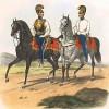 Австрийские кирасиры в 1830-е гг. (из K. K. Oesterreichische Armée nach der neuen Adjustirung in VI. abtheil. III te. Abtheil. Cavallerie. Лист 1. Вена. 1837 год)