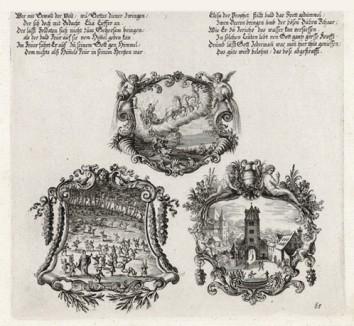 Вознесение пророка Ильи на небеса (из Biblisches Engel- und Kunstwerk -- шедевра германского барокко. Гравировал неподражаемый Иоганн Ульрих Краусс в Аугсбурге в 1700 году)