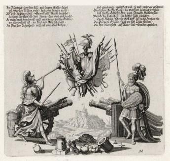 Пророчество Наума (из Biblisches Engel- und Kunstwerk -- шедевра германского барокко. Гравировал неподражаемый Иоганн Ульрих Краусс в Аугсбурге в 1700 году)