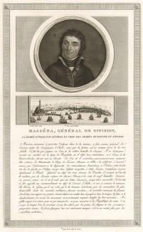 Андре Массена (1758-1817) - сначала рядовой, в 1792 г. - дивизионный генерал, командующий Дунайской и Итальянской армиями, маршал Франции (1804), герцог де Риволи (1807), князь Эслингенский (1809) и командующий Португальской армией (1810). Париж, 1804