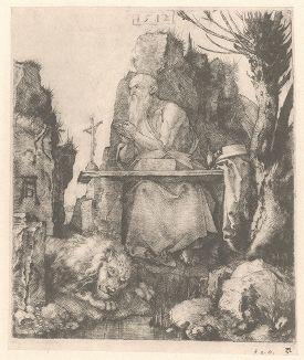 Святой Иероним. Гравюра Альбрехта Дюрера, выполненная в 1512 году (Репринт 1928 года. Лейпциг)