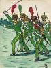 1813-14 гг. Офицер и нижние чины легкой пехоты королевства Бавария. Коллекция Роберта фон Арнольди. Германия, 1911-29
