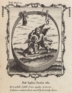 """Я иногда падаю, чтобы подняться и доказать, что стою на ногах крепче с верой в сердце (из бестселлера XVII -- XVIII веков """"Символы божественные и моральные и загадки жизни человека"""" Фрэнсиса Кварльса (лондонское издание 1788 года))"""