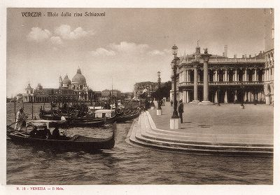 Набережная Рива дельи Скьявони в Венеции. Ricordo Di Venezia, 1913 год.