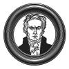 """Людвиг ван Бетховен (1770—1827) — немецкий композитор, ключевая фигура западной классической музыки и один из наиболее исполняемых композиторов в мире. Илл. к пьесе С.Гитри """"Наполеон"""", Париж, 1955"""