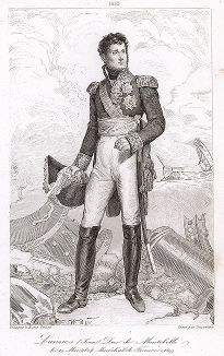 Жан Ланн (1769-1809), маршал Франции с 1804 года. Galerie des Marechaux de France par Ch. Gavard, Париж, 1839 год.