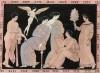Геракл в плену у Омфалы (с античной вазы). Из работы Джулио Феррарио Il costume antico e moderno... di tutti i popoli. Азия, т.III. Милан, 1817
