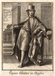 Рыцарь ордена Бани - британского рыцарского ордена, основанного 18 мая 1725 г. королем Георгом I. Название связано с древним обрядом получения рыцарства: претендентов подвергали ночному бодрствованию с постом, молитвой и купанием.