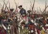 """Семилетняя война 1756—1763 гг. Король Фридрих с солдатами Бернбургского полка, отличившегося в сражении при Лигнице 15 августа 1760 г. Р.Кнотель, К.Рехлинг """"Старый Фриц..."""", л.37. Берлин, 1895"""