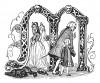 """Инициал (буквица) M, предваряющий главу """"Юность"""" книги Франца Кюглера """"История Фридриха Великого"""". Рисовал Адольф Менцель. Лейпциг, 1842"""
