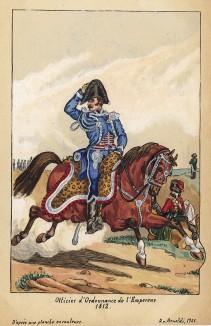 1812 г. Адъютант императора Наполеона. Коллекция Роберта фон Арнольди. Германия, 1911-28