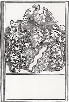 Герб члена Нюрнбергского совета Михаила Бехайма, исполненный Альбрехтом Дюрером в 1520 году