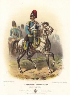 Офицер 2-го Ганноверского драгунского полка в униформе образца 1870-х гг. Preussens Heer. Берлин, 1876