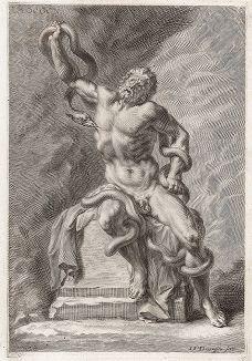 Лаокоон работы  Агесандра, Полидора и Афинодора. Лист из Sculpturae veteris admiranda ... Иоахима фон Зандрарта, Нюрнберг, 1680 год.