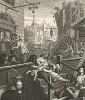 Переулок джина, 1751. «Антиреклама» в поддержку Указа 1751 г., ограничивающего продажу джина. Несмотря на Указ 1736 г., простые граждане неумеренно употребляли джин всю первую половину XVШ века. Последствия были катастрофическими. Лондон, 1838