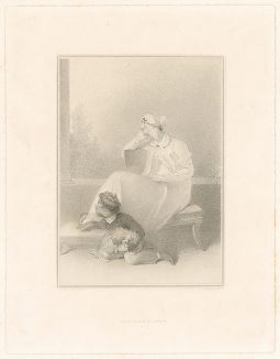 Леди (возможно, Мэри Темплтон) со своим сыном. Гравюра по рисунку сэра Томаса Лоуренса.