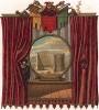 Декорации и сценография для постановки античной драмы в одном из парижских театров XVII века (из Les arts somptuaires... Париж. 1858 год)