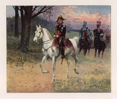 """Жан-Батист Бессьер (1768—1813) — сын хирурга, командующий Консульской гвардией (1801), маршал Франции (1804), командующий гвардейской кавалерией Наполеона и герцог Истрии. Илл. к работе """"Императорская гвардия в 1804-1815 гг."""" Париж, 1901"""