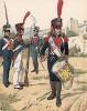 Униформа пехотинцев Великого герцогства Франкфуртского образца 1809 г. Uniformenkunde Рихарда Кнотеля, часть 2, л.40. Ратенау (Германия), 1891