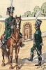 1807 г. Французские жандармы. Коллекция Роберта фон Арнольди. Германия, 1911-28