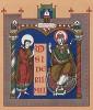 Святой Иероним -- создатель канонического латинского текста Библии (из Les arts somptuaires... Париж. 1858 год)