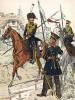 Кавалеристы Восточно-Прусского полка в униформе образца 1813 г. Uniformenkunde Рихарда Кнотеля, л.19. Ратенау (Германия), 1890