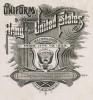 """Фронтиспис альбома Uniform of the army of the United States illustrated from 1774 to 1889 - """"Униформа армии Соединённых Штатов 1774-1889 гг."""" Нью-Йорк, 1890"""