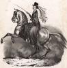 Eё величество королева Виктория на своей любимой лошади. Лондон, 1840-е гг.